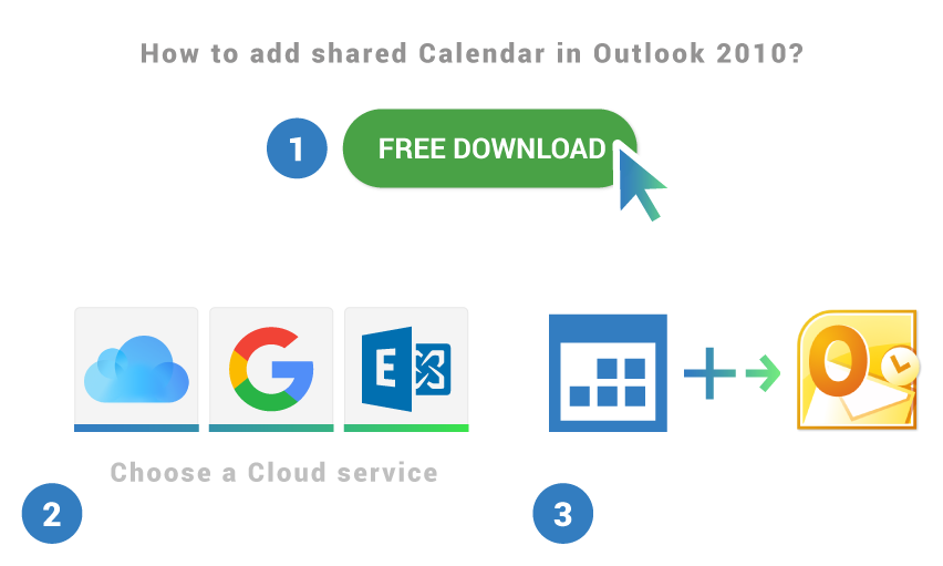 How to add shared calendar to Outlook 2010