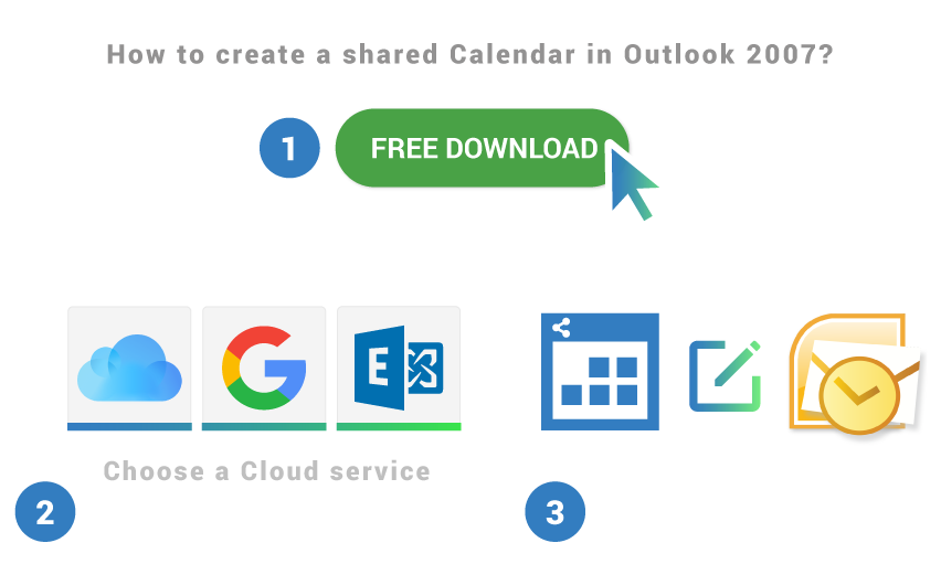 How to create a shared calendar in Outlook 2007