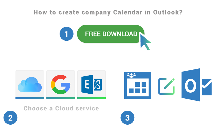How to create company calendar in Outlook