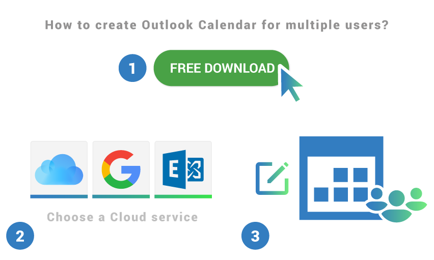 How to create Outlook Calendar for multiple users