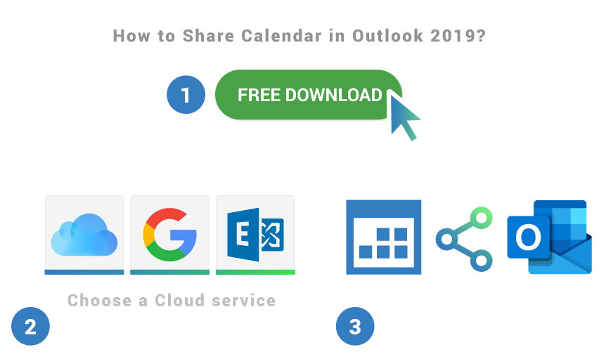 How to share calendar in Outlook 2019
