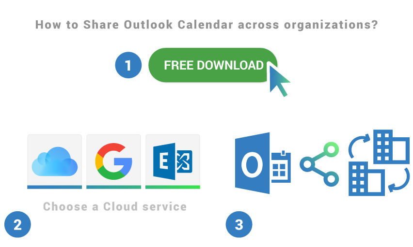 How to share Outlook Calendar across organizations