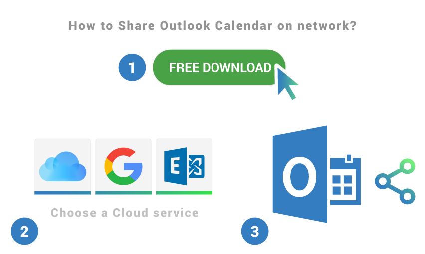 How to share Outlook Calendar on network