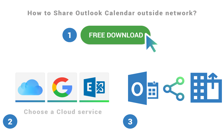 How to share Outlook Calendar outside network
