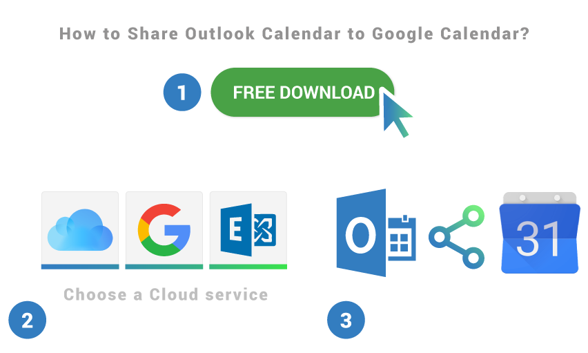 How to share Outlook Calendar to Google Calendar