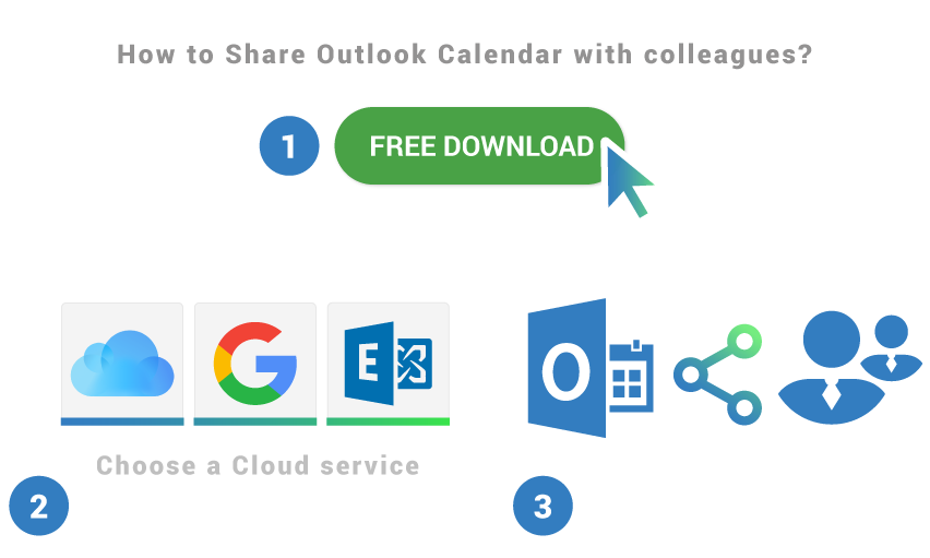 How to share Outlook Calendar with colleagues