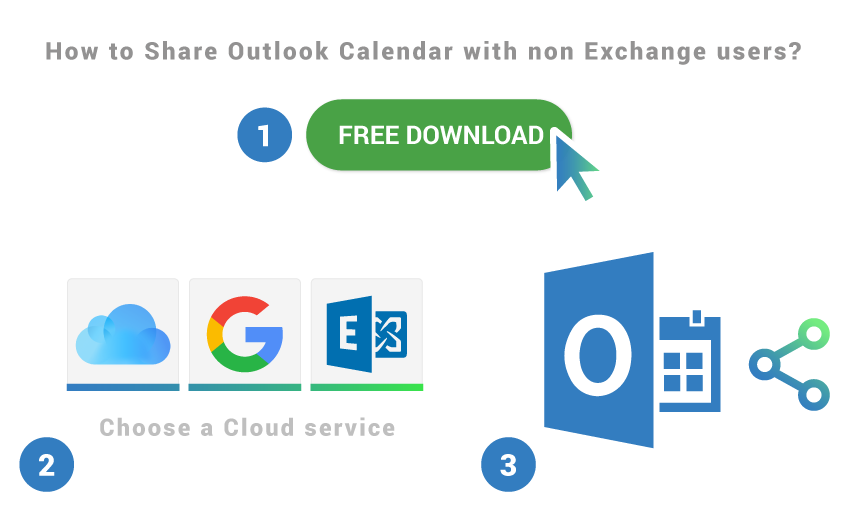How to share Outlook Calendar with non-Exchange users