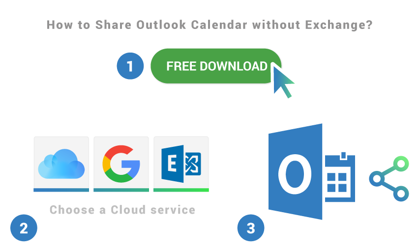 How to share Outlook Calendar without Exchange