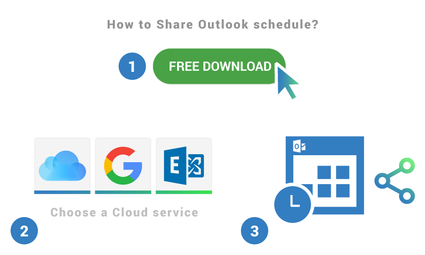 How to share Outlook schedule