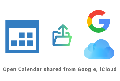 Open in Outlook calendar shared from another platform - Google, iCloud