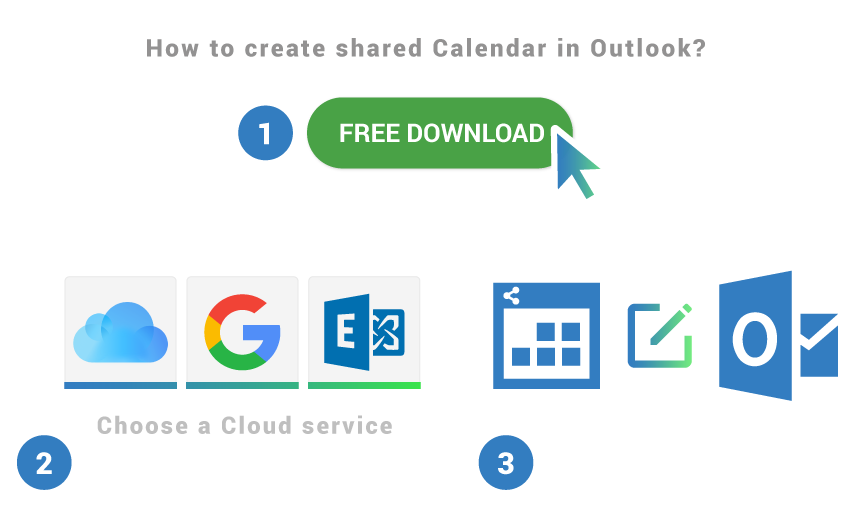 How to create shared calendar in Outlook