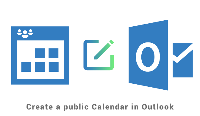 Create a public calendar in Outlook