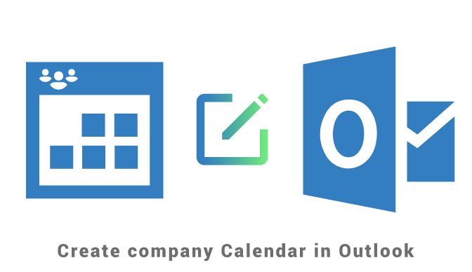 Create company calendar in Outlook