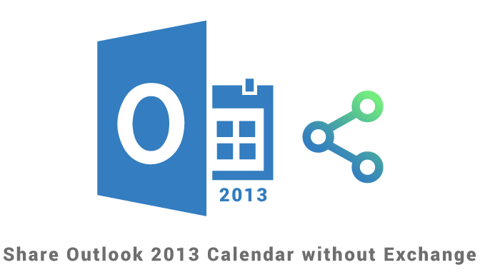 Share Outlook 2013 calendar without Exchange