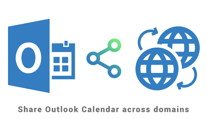 Share Outlook Calendar across domains