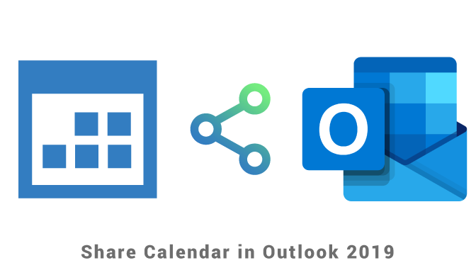 Share calendar in Outlook 2019