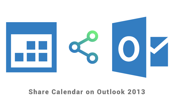 Share calendar on Outlook 2013