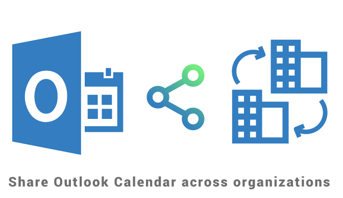 Share Outlook Calendar across organizations