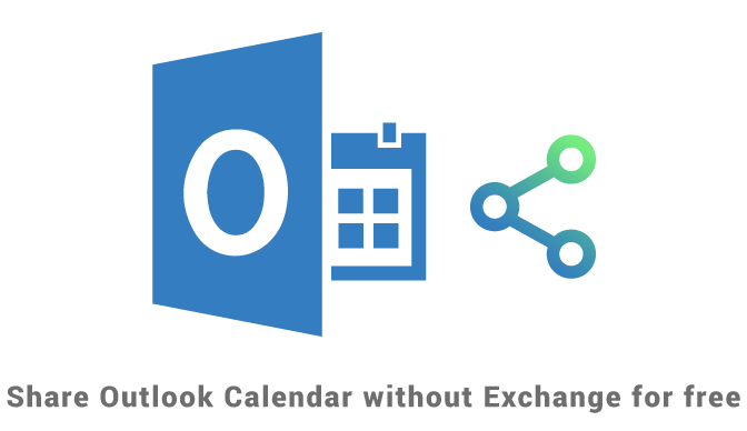 Share Outlook Calendar without Exchange for free