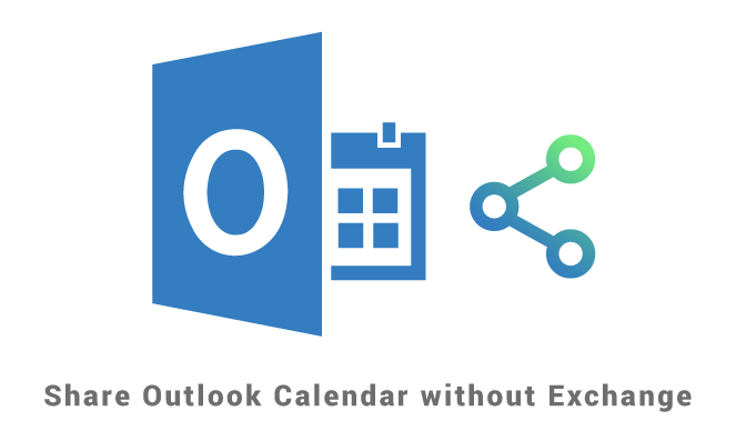 Share Outlook Calendar without Exchange