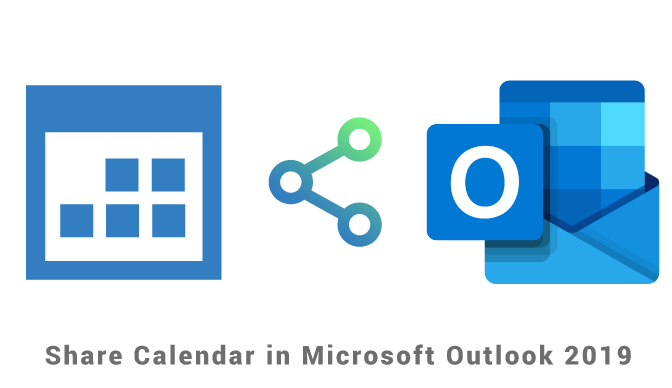 Sharing a calendar in Outlook 2019
