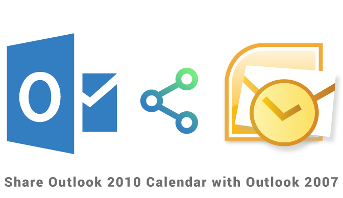 Sharing Outlook 2010 calendar with Outlook 2007
