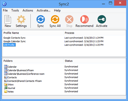 Sync Outlook data between multiple sources