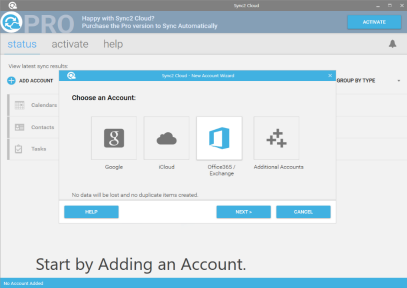 Sync Outlook with Office 365 using Free Sync2 Cloud software
